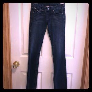 True Religion Becky Dark Wash Bootcut Jeans, 24
